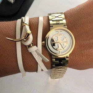 Tory Burch Jewelry - Tory Burch leather wrap bracelet